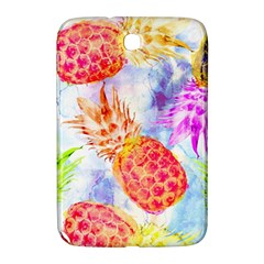 Colorful Pineapples Over A Blue Background Samsung Galaxy Note 8 0 N5100 Hardshell Case  by DanaeStudio