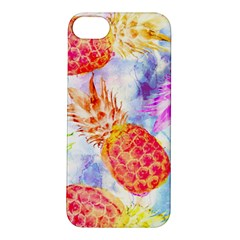 Colorful Pineapples Over A Blue Background Apple Iphone 5s/ Se Hardshell Case by DanaeStudio