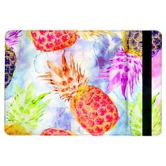Colorful Pineapples Over A Blue Background Ipad Air Flip by DanaeStudio