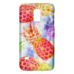 Colorful Pineapples Over A Blue Background Galaxy S5 Mini by DanaeStudio