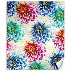Colorful Dahlias Canvas 8  X 10  by DanaeStudio