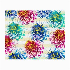 Colorful Dahlias Small Glasses Cloth (2 Side) by DanaeStudio