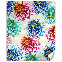 Colorful Dahlias Canvas 11  X 14   by DanaeStudio