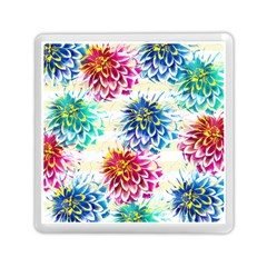 Colorful Dahlias Memory Card Reader (square)  by DanaeStudio