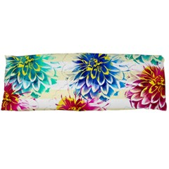 Colorful Dahlias Body Pillow Case (dakimakura) by DanaeStudio