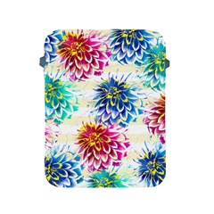 Colorful Dahlias Apple Ipad 2/3/4 Protective Soft Cases by DanaeStudio