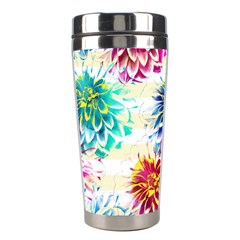 Colorful Dahlias Stainless Steel Travel Tumblers by DanaeStudio