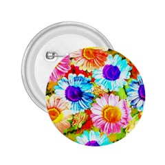 Colorful Daisy Garden 2 25  Buttons by DanaeStudio