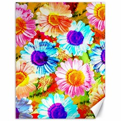 Colorful Daisy Garden Canvas 18  X 24   by DanaeStudio
