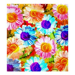 Colorful Daisy Garden Shower Curtain 66  X 72  (large)  by DanaeStudio