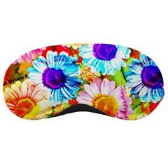 Colorful Daisy Garden Sleeping Masks by DanaeStudio
