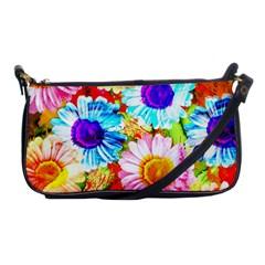 Colorful Daisy Garden Shoulder Clutch Bags by DanaeStudio