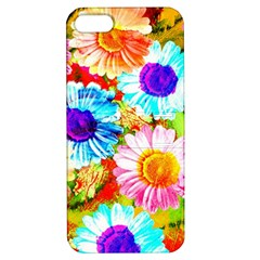 Colorful Daisy Garden Apple Iphone 5 Hardshell Case With Stand by DanaeStudio