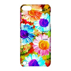 Colorful Daisy Garden Apple Ipod Touch 5 Hardshell Case With Stand by DanaeStudio