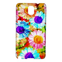 Colorful Daisy Garden Samsung Galaxy Note 3 N9005 Hardshell Case by DanaeStudio