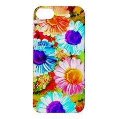 Colorful Daisy Garden Apple Iphone 5s/ Se Hardshell Case by DanaeStudio