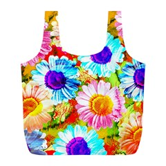 Colorful Daisy Garden Full Print Recycle Bags (l)  by DanaeStudio