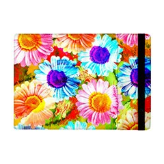 Colorful Daisy Garden Ipad Mini 2 Flip Cases by DanaeStudio