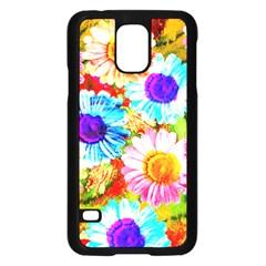 Colorful Daisy Garden Samsung Galaxy S5 Case (black) by DanaeStudio
