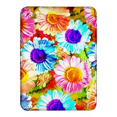 Colorful Daisy Garden Samsung Galaxy Tab 4 (10 1 ) Hardshell Case  by DanaeStudio