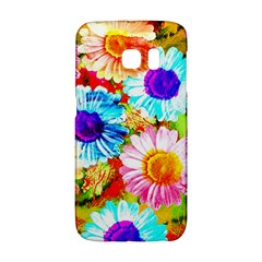 Colorful Daisy Garden Galaxy S6 Edge by DanaeStudio