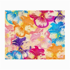 Colorful Pansies Field Small Glasses Cloth (2 Side) by DanaeStudio