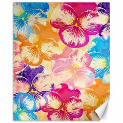 Colorful Pansies Field Canvas 11  X 14   by DanaeStudio