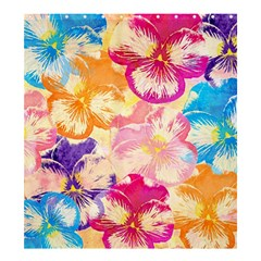 Colorful Pansies Field Shower Curtain 66  X 72  (large)  by DanaeStudio