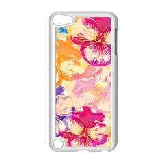 Colorful Pansies Field Apple Ipod Touch 5 Case (white) by DanaeStudio