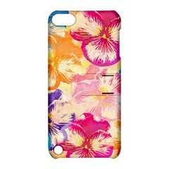 Colorful Pansies Field Apple Ipod Touch 5 Hardshell Case With Stand by DanaeStudio