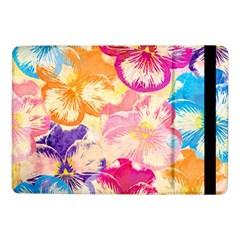 Colorful Pansies Field Samsung Galaxy Tab Pro 10 1  Flip Case by DanaeStudio
