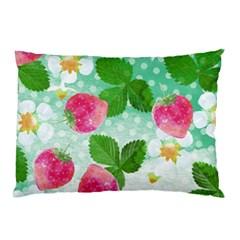 Cute Strawberries Pattern Pillow Case by DanaeStudio