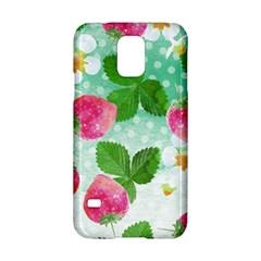 Cute Strawberries Pattern Samsung Galaxy S5 Hardshell Case  by DanaeStudio