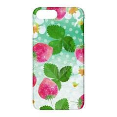 Cute Strawberries Pattern Apple Iphone 7 Plus Hardshell Case by DanaeStudio
