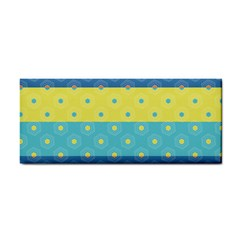 Hexagon And Stripes Pattern Cosmetic Storage Cases by DanaeStudio