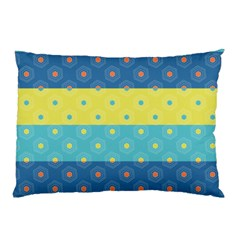 Hexagon And Stripes Pattern Pillow Case by DanaeStudio