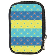 Hexagon And Stripes Pattern Compact Camera Cases by DanaeStudio