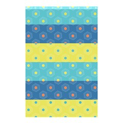 Hexagon And Stripes Pattern Shower Curtain 48  X 72  (small)  by DanaeStudio
