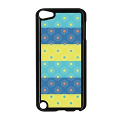 Hexagon And Stripes Pattern Apple Ipod Touch 5 Case (black) by DanaeStudio