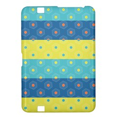 Hexagon And Stripes Pattern Kindle Fire HD 8.9  by DanaeStudio