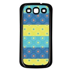 Hexagon And Stripes Pattern Samsung Galaxy S3 Back Case (black) by DanaeStudio