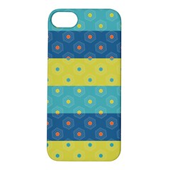 Hexagon And Stripes Pattern Apple Iphone 5s/ Se Hardshell Case by DanaeStudio