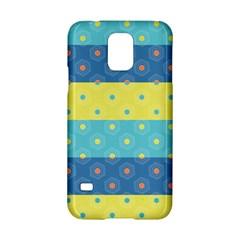 Hexagon And Stripes Pattern Samsung Galaxy S5 Hardshell Case  by DanaeStudio