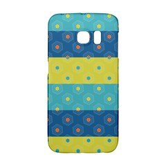 Hexagon And Stripes Pattern Galaxy S6 Edge by DanaeStudio