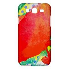 Lovely Red Poppy And Blue Dots Samsung Galaxy Mega 5 8 I9152 Hardshell Case  by DanaeStudio