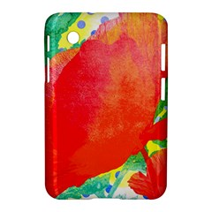 Lovely Red Poppy And Blue Dots Samsung Galaxy Tab 2 (7 ) P3100 Hardshell Case  by DanaeStudio