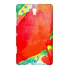 Lovely Red Poppy And Blue Dots Samsung Galaxy Tab S (8 4 ) Hardshell Case  by DanaeStudio