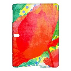 Lovely Red Poppy And Blue Dots Samsung Galaxy Tab S (10 5 ) Hardshell Case  by DanaeStudio