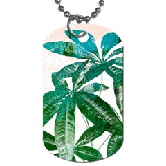Pachira Leaves  Dog Tag (two Sides) by DanaeStudio