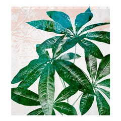 Pachira Leaves  Shower Curtain 66  X 72  (large)  by DanaeStudio